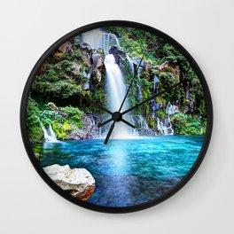 4k Reunion Island beautiful nature waterfalls HDR Saint-Gilles France Wall Clock
