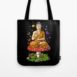 Buddha Magic Mushrooms Meditation Tote Bag
