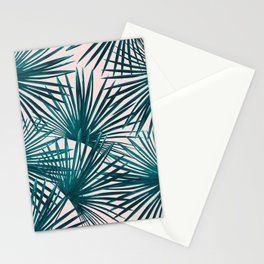Tropical Fan Palm Leaves #7 #tropical #decor #art #society6 Stationery Cards