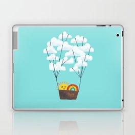 Hot cloud balloon - sun and rainbow Laptop & iPad Skin