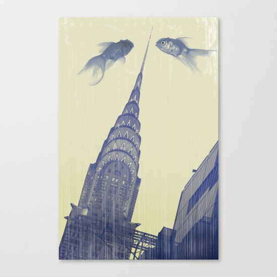 chrysler gold fish Canvas Print