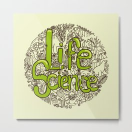 Life Science Metal Print