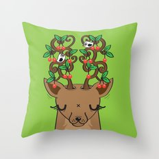 Love with Cherries on Top Throw Pillow