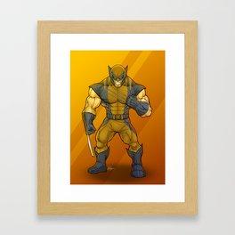 """X-men James""""Logan"""" Howlett Framed Art Print"""
