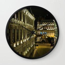 Alley at night Wall Clock