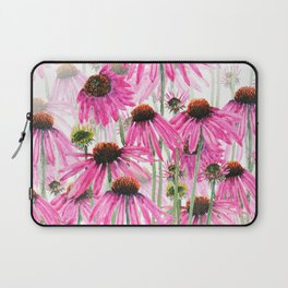 pink coneflower field Laptop Sleeve