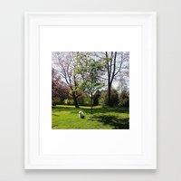 westie Framed Art Prints featuring Little Westie by Nina Jankovic
