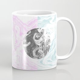 Toshi - spilled ink abstract painting watercolor marble painterly boho pantone rosequartz pastel Coffee Mug