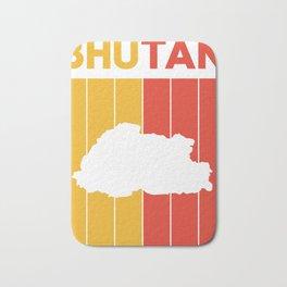 bhutan Country and Flag Bath Mat