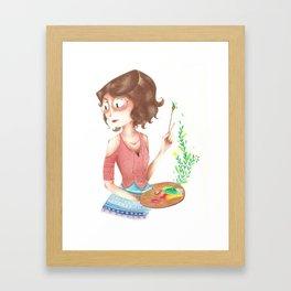 Simone painting Framed Art Print