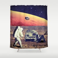 car Shower Curtains featuring Car repair by Cs025