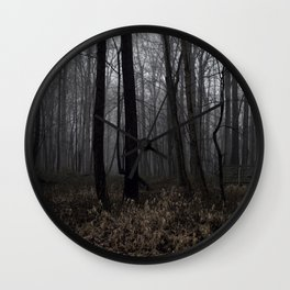 Forest in Fog Wall Clock