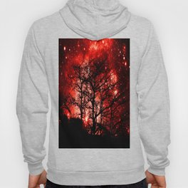 black trees red space Hoody