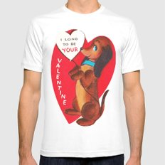 I Long to be Your Valentine White Mens Fitted Tee MEDIUM