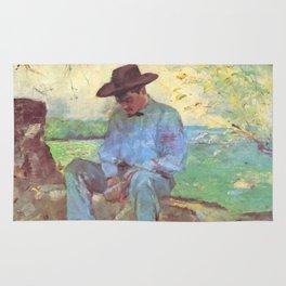 """Henri de Toulouse-Lautrec """"Le Jeune Routy à Céleyran"""" Rug"""