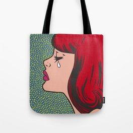 Little Red Head Sad Girl Tote Bag