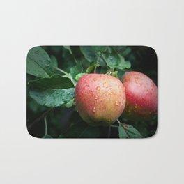 Autumn Apples in the Rain Bath Mat