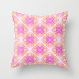 squareprint light pink Throw Pillow