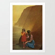 mother stands for comfort Art Print