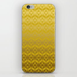 Yellow weaves pattern iPhone Skin