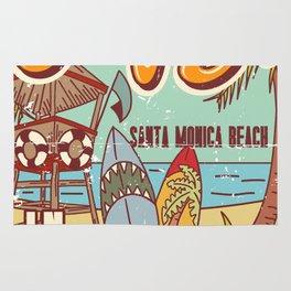 The Best Surfing – Santa Monica Beach Rug