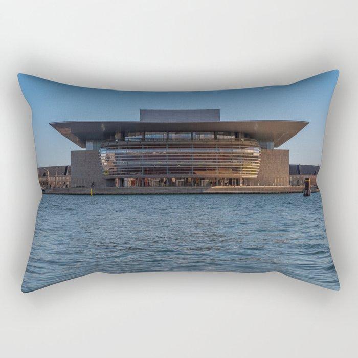 Copenhagen Opera House Rectangular Pillow