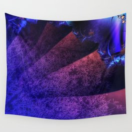 Pleated fantasy forest Wall Tapestry