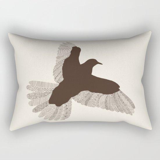 Bird (On Beige) Rectangular Pillow