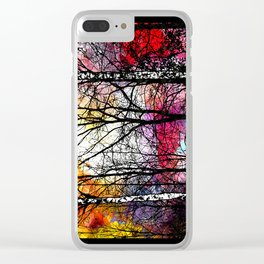 Tree Alley Colors Clear iPhone Case