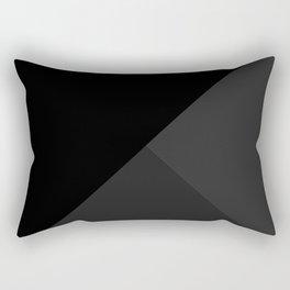 Trinity Color Block Black 262626 Rectangular Pillow
