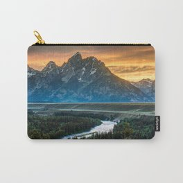 Sunset On Grand Teton And Snake River Carry-All Pouch
