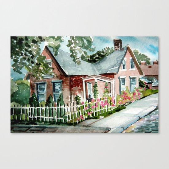 German Village House in Columbus, Ohio Canvas Print