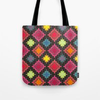 kilim Tote Bags featuring kilim bold by Sharon Turner