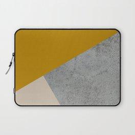 MUSTARD NUDE GRAY GEOMETRIC COLOR BLOCK Laptop Sleeve