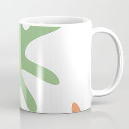 blue and orange leaves 3 Coffee Mug