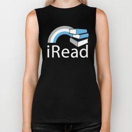 i Read | Book Nerd Slogan Biker Tank
