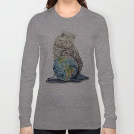 In which our feline deity shows restraint  Long Sleeve T-shirt