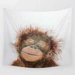 Cute Orangutan Wall Tapestry