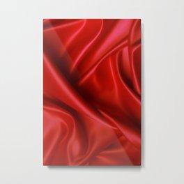 red linen Metal Print