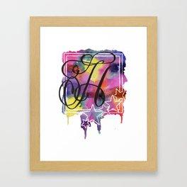 Calligraphy Capital Initial H Framed Art Print