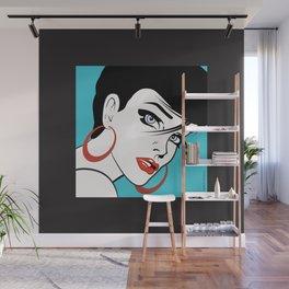 Beautiful Pop Art Girl Connie Wall Mural