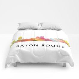 Baton Rouge Louisiana Skyline Comforters