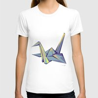 origami T-shirts featuring Origami by Daniela Castillo