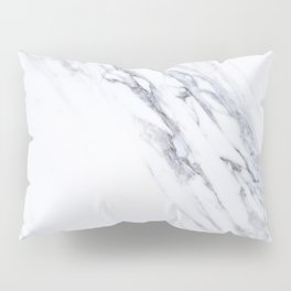 White Marble with Classic Black Veins Pillow Sham
