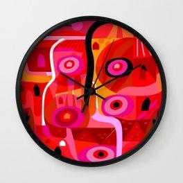 Zacatecas (Red) Wall Clock