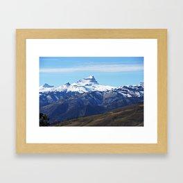 Uncompahgre Peak First Snow Framed Art Print