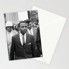 James Meredith walking to class, 1962 Stationery Cards