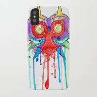 majoras mask iPhone & iPod Cases featuring Majoras Mask Splatter by ysocrazeh