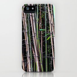 Bamboo canes in a forest iPhone Case