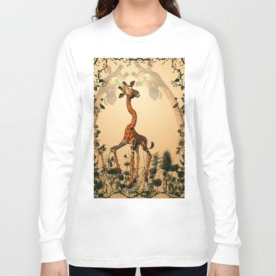 Funny giraffe  Long Sleeve T-shirt